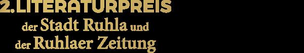 2. Ruhlaer Literaturpreis